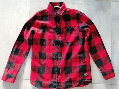 Koszula w kratę dla chłopca h&m 140 cm