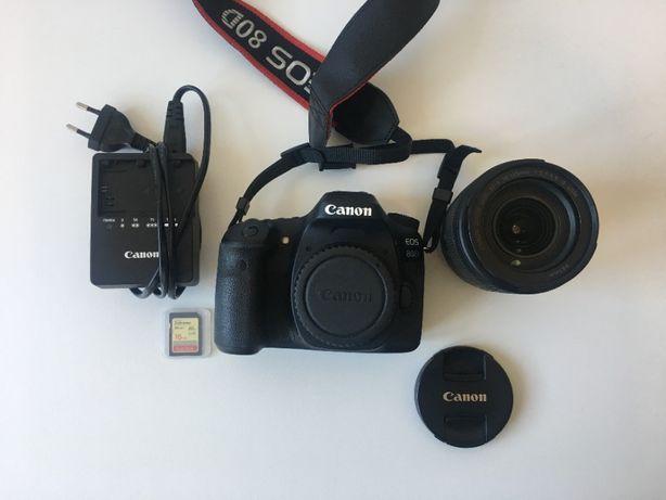 Aparat lustrzanka Canon 80D + obiektyw 18-135mm+ statyw + ubezp.