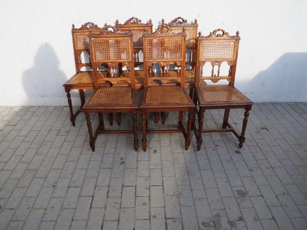 Antyczny komplet 6 krzeseł eklektycznych 118