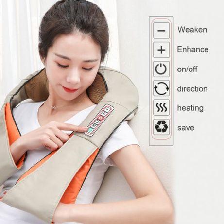 Массажер для шеи плеч и спины с ИК-подогревом LaGuerir 6 кнопок Массаж