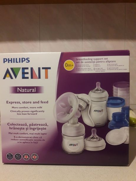 Молокоотсос Philips avent в наборе с контейнерам для хранения молока