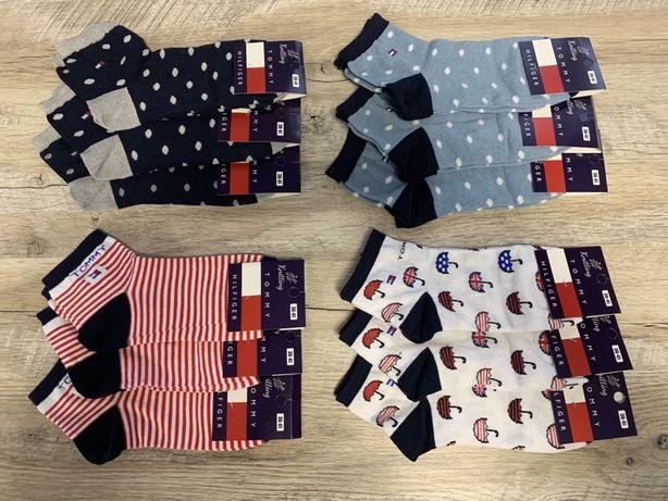 Набор носков 12 пар (носки, шкарпетки в стиле Tomy Hilfiger 35-41 р )