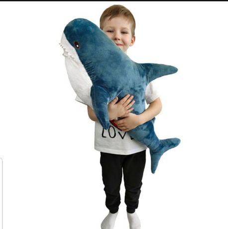 Мягкая игрушка Акула подруга BLAHAJ IKEA 60 см синий