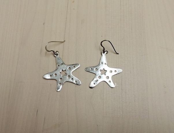 Brincos Estrelas do Mar em prata