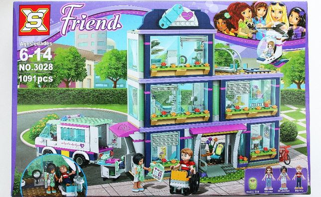 Klocki jak LEGO friends szpital+bobas