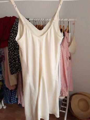 2 Slip dress vintage, vestido de noite de alças rosa rendado acetinado
