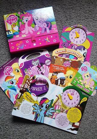 Książki My Little Pony 6 szt + teczka