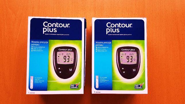 Contour Plus Glukometr + Paski testowe i opaska Gratis ! Nowy