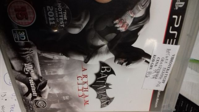 Batman Arkham city ps3, sklep Tychy