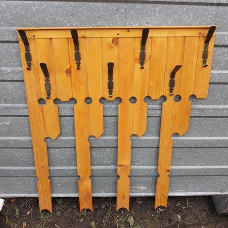 Pilnie przedpokój drewniany wieszak stalowy dostawa do 10km GRATIS