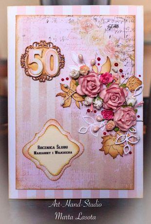 Ślubne kartki ręcznie robione