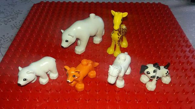 Lego Duplo zwierzątka , zwierzęta żyrafa , miś pol ,lis ,piesek, konik