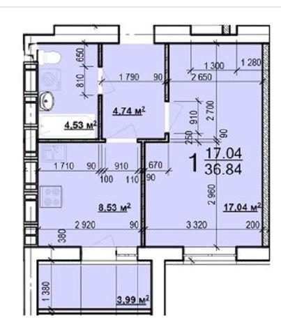 22500$ ЖК Мира-3 Лучшая цена! 1 комнатная квартира 37 м2. SA