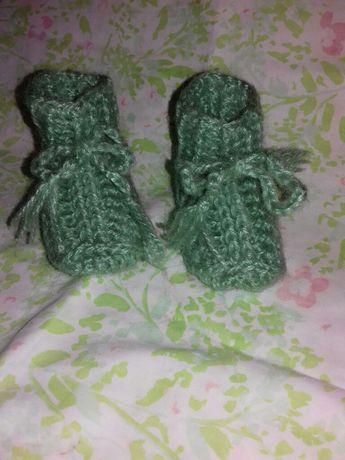 Botinhas feitas à mão