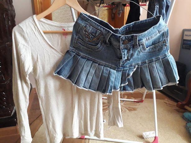 Кофта, юбка джинс
