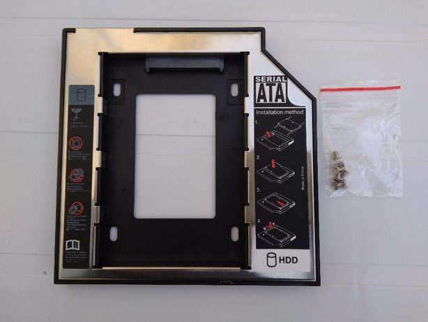 Adaptador caddy 2º disco SATA/SSD p/ portátil