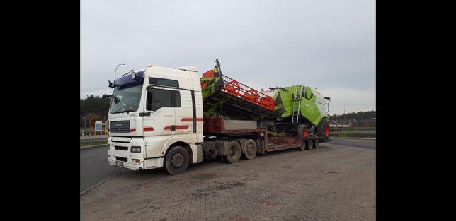 Transport maszyn rolniczych Kombajnów traktorów sieczkarni przyczep