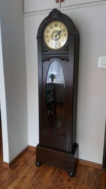 Stary stojący zegar dwuwagowy Gustav Becker antyk staroć secesja