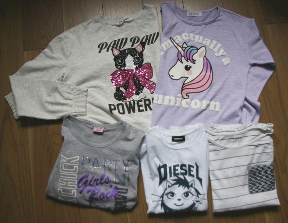 PAKA dla dziewczynki 8-10 lat, bluzki, bluzy, koszulki H&M, Reserved