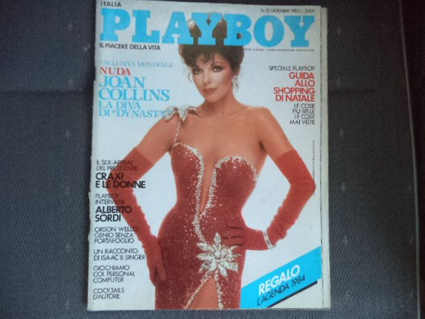 Revista PLAYBOY/Itália 1983 Exclusivo Mundial JOAN COLLINS A Diva