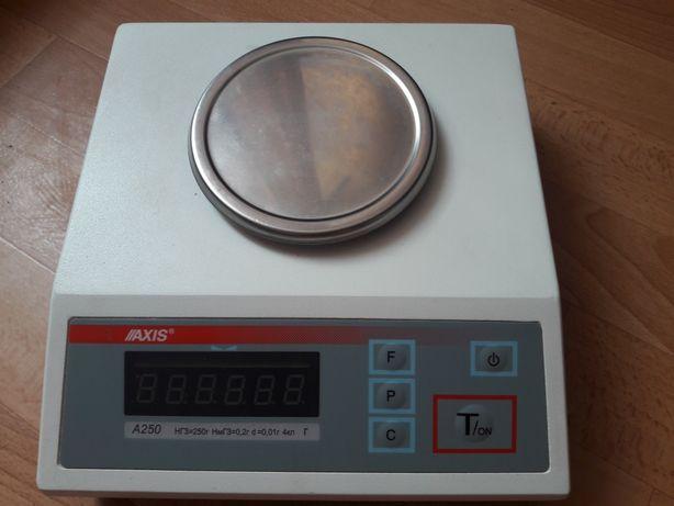 Электронные лабораторные/ювелирные весы Axis A-250