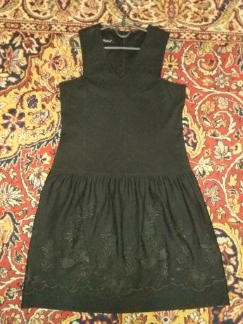 Трикотажный сарафан с выбивкой/трикотажное платье 48-50