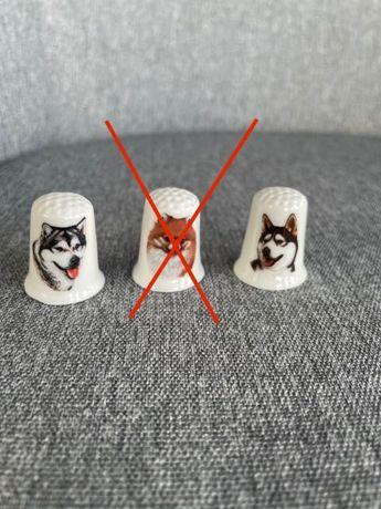 Naparstek porcelanowy pies, husky, alaskan, chihuahua, beagle