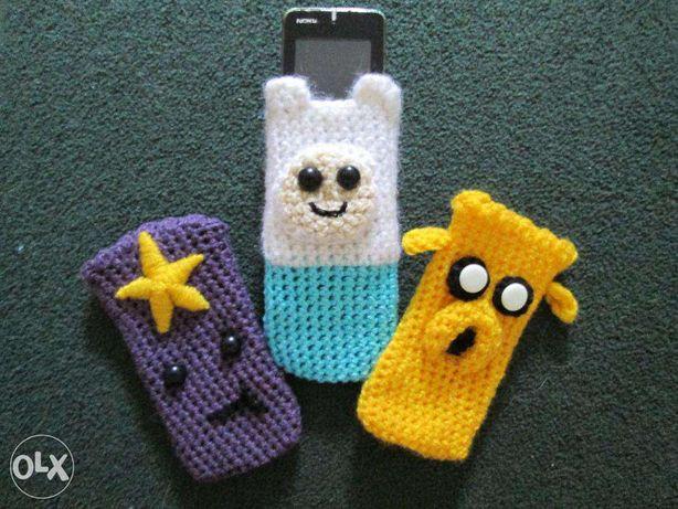 Вязаные вручную чехлы Adventure Time