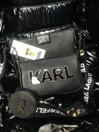 Torba Karl Lagerfeld torebka 3in1 nowość skórzana hit premium