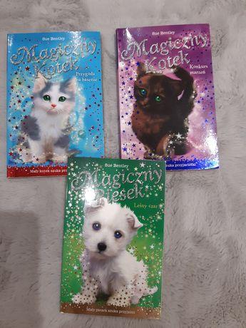 Zestaw 3 książek Magiczny kotek/piesek