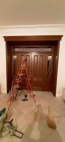 Установка, обшивка входных дверей, реставрация