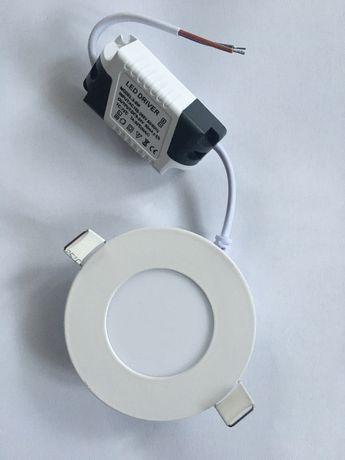 Светлодиодний светильник, круглий 3w