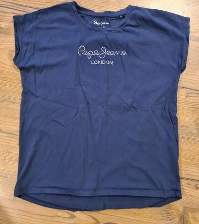 PepeJeans tshirt dziewczęcy r. 176 16 lat cyrkonie