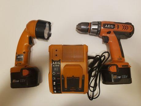 Wkrętarka AEG BS 12 X-R + nowe baterie (opcja)