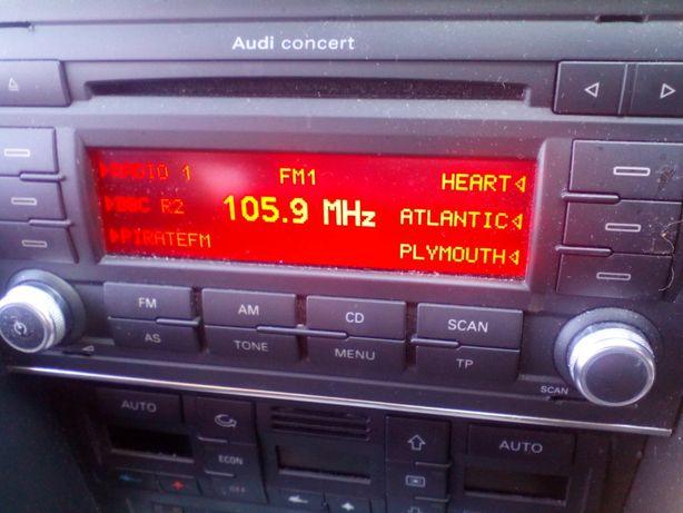 Audi A4 B6 B7 radio CONCERT III SYMPHONY III z kodem MP3!!!