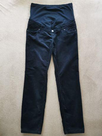 Spodnie ciążowe sztruksowe firmy C&A rozm. 42 ciemny granat