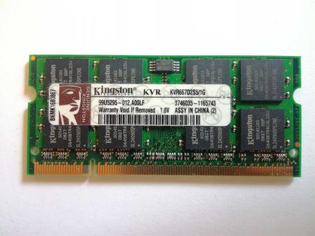 Pamięć RAM do laptopa Kingston KVR667D2S5/1G   667 MHz   1 GB   CL5
