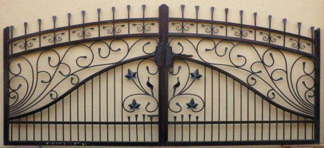 Brama dwuskrzydłowa , bardzo solidna WZÓR 21 skrzydłowa kuta metalowa