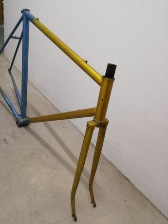 Quadro bicicleta corrida antiga