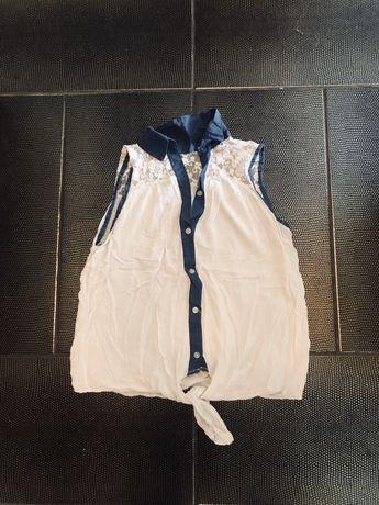 Koszula biała wiązana rozmiar M 38