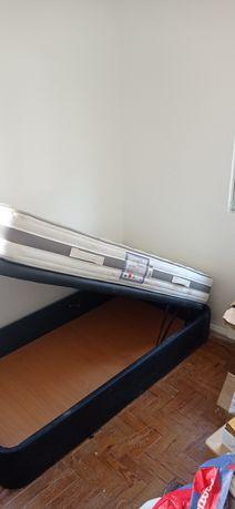 Conjunto cama + mesinha de cabeceira