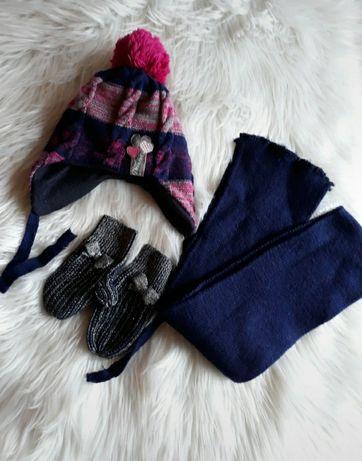 Komplet zimowy czapka szalik rękawiczki