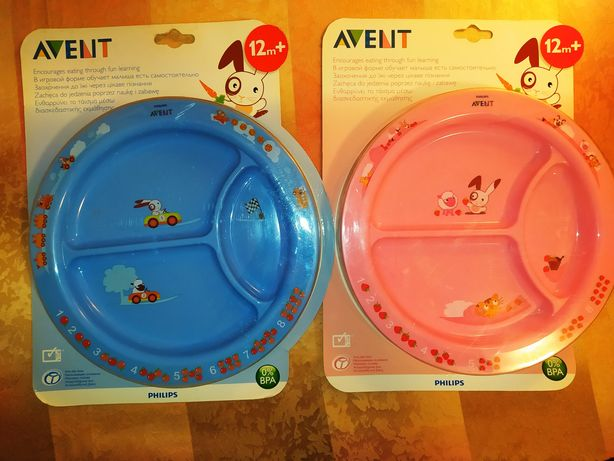 Детская порционная тарелка столовые наборы Avent Philips 12+