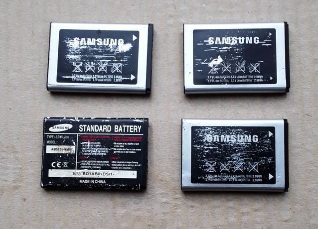 Аккумуляторы литиевые LIIon 3.7В 800мАч Samsung 4 штуки