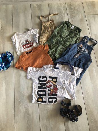 Комбинезон, ромпер, футболка, панамка Carters, Levis