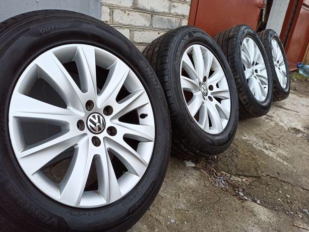 Оригинальный комплект VW Tiguan r17 + Hankook 235 55 r17 6mm. 19 год