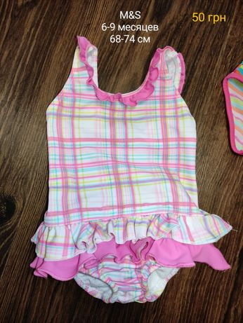 Детский купальник M&S на 6-9 месяцев