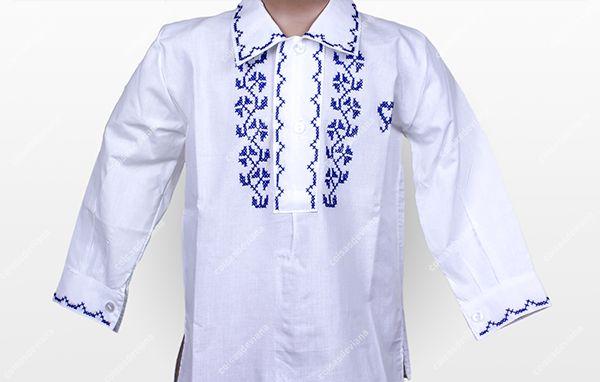 Camisa Bordada a Ponto Cruz - Criança