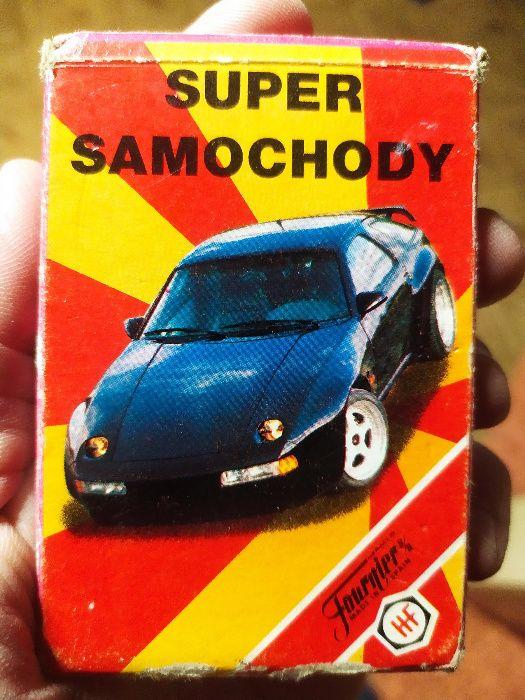 Karty do gry firmy Fournier Super Samochody, klasyk z lat 90siątych