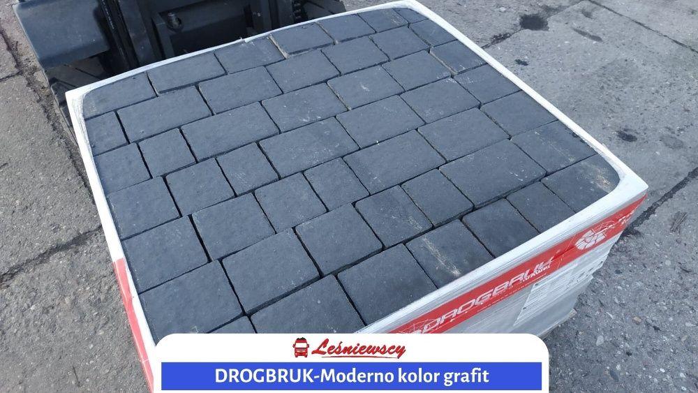 DROGBRUK-Moderno-GRAFIT Kostka brukowa na podjazd Polbruk-Pozbruk